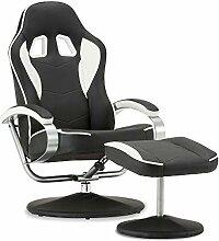 MCombo Racing Gaming Stuhl mit Hocker,