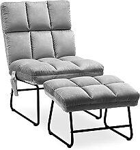 MCombo Sessel mit Hocker, bis 130KG belastbarer