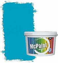 McPaint Bunte Wandfarbe Azurblau - 10 Liter -