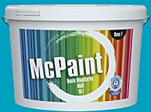 McPaint Bunte Wandfarbe Azurblau-2.5 Litre