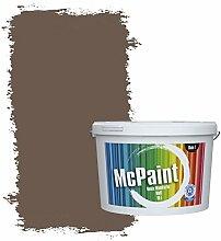 McPaint Bunte Wandfarbe Dunkelbraun - 5 Liter -