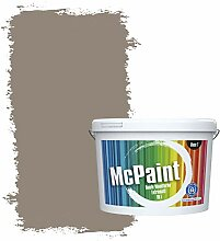 McPaint Bunte Wandfarbe extramatt für Innen Mokka