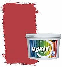 McPaint Bunte Wandfarbe Feuerrot - 10 Liter -
