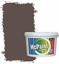 McPaint Bunte Wandfarbe Kaffeebraun - 10 Liter -