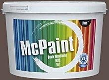 McPaint Bunte Wandfarbe Kaffeebraun-10 Litre