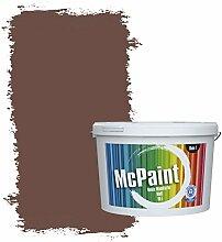 McPaint Bunte Wandfarbe Kastanienbraun - 10 Liter