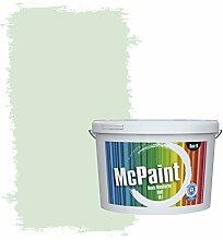 McPaint Bunte Wandfarbe matt für Innen Aloegrün 5 Liter - Weitere Grüne Farbtöne Erhältlich - Weitere Größen Verfügbar