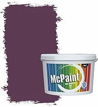McPaint Bunte Wandfarbe matt für Innen Aubergine 2,5 Liter - Weitere Violette Farbtöne Erhältlich - Weitere Größen Verfügbar