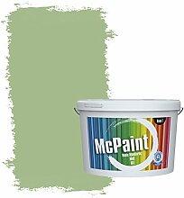 McPaint Bunte Wandfarbe matt für Innen Bambusgrün 2,5 Liter - Weitere Grüne Farbtöne Erhältlich - Weitere Größen Verfügbar