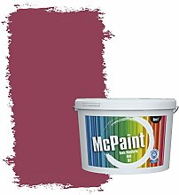 McPaint Bunte Wandfarbe matt für Innen Bordeaux