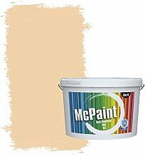 McPaint Bunte Wandfarbe matt für Innen Creme 10 Liter - Weitere Orange Farbtöne Erhältlich - Weitere Größen Verfügbar