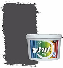 McPaint Bunte Wandfarbe matt für Innen Dunkelgrau 10 Liter - Weitere Graue Farbtöne Erhältlich - Weitere Größen Verfügbar