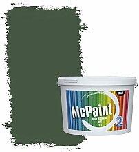 McPaint Bunte Wandfarbe matt für Innen Dunkelgrün 2,5 Liter - Weitere Grüne Farbtöne Erhältlich - Weitere Größen Verfügbar