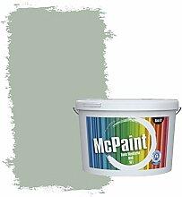 McPaint Bunte Wandfarbe matt für Innen Eucalyptus 2,5 Liter - Weitere Grüne Farbtöne Erhältlich - Weitere Größen Verfügbar
