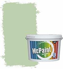 McPaint Bunte Wandfarbe matt für Innen Lorbeergrün 10 Liter - Weitere Grüne Farbtöne Erhältlich - Weitere Größen Verfügbar