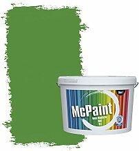 McPaint Bunte Wandfarbe matt für Innen Pfefferminz 10 Liter - Weitere Grüne Farbtöne Erhältlich - Weitere Größen Verfügbar