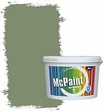 McPaint Bunte Wandfarbe matt für Innen Schilfgrün 5 Liter - Weitere Grüne Farbtöne Erhältlich - Weitere Größen Verfügbar