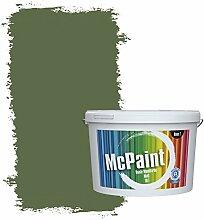 McPaint Bunte Wandfarbe matt für Innen Tannengrün 10 Liter - Weitere Grüne Farbtöne Erhältlich - Weitere Größen Verfügbar