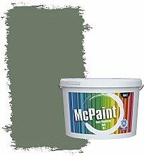 McPaint Bunte Wandfarbe matt für Innen Wacholdergrün 5 Liter - Weitere Grüne Farbtöne Erhältlich - Weitere Größen Verfügbar