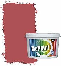 McPaint Bunte Wandfarbe matt für Innen Wassermelone 2,5 Liter - Weitere Rote Farbtöne Erhältlich - Weitere Größen Verfügbar