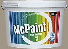 McPaint Bunte Wandfarbe Taupe-10 Litre