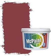 McPaint Bunte Wandfarbe Weinrot - 5 Liter -