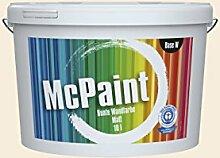 McPaint Bunte Wandfarbe Wollweiß-10 Litre