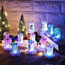 Mcree 5 x Weihnachtskerzen mit LED-Teelicht-Kerzen
