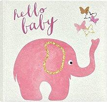 MCS Baby Pink Elephant Fotoalbum, Rose, 8.5 x 8.5
