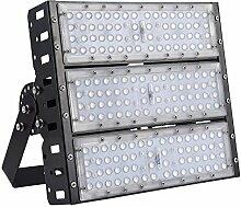 MCTECH 150W LED Super Hell Außen Flutlichtstrahler Fluter Flutlicht Scheinwerfer Strahler Tunnelbeleuchtung IP65 für Tunnel, Spielplatz (150W Warmweiß)