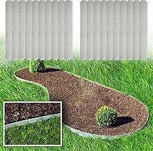 MCTECH® 20 x Rasenkante Metall verzinkt