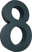 MCTECH® 3D Hausnummer Edelstahl Design Arial