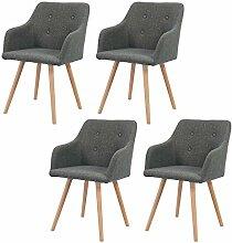 MCTECH® 4er Set Esszimmerstühle Besucher-Stuhl Esszimmerstuhl Wohnzimmerstuhl Stuhlgruppe Konferenzstühle Bürostuhl Küchenstuhl Büro (Dunkelgrau)