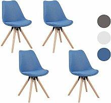 MCTECH® 4er Set Esszimmerstühle Besucher-Stuhl Esszimmerstuhl Wohnzimmerstuhl Stuhlgruppe Konferenzstühle Bürostuhl Küchenstuhl Büro Sofas (Dunkelblau)