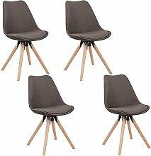 MCTECH® 4er Set Esszimmerstühle Besucher-Stuhl