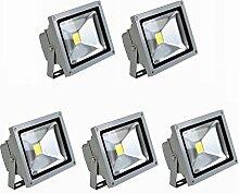 MCTECH® 5 Stück 10W LED Strahler Fluter