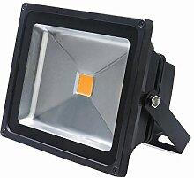 MCTECH 50W LED Strahler LED Scheinwerger Fluter Wasserdicht Lampe Warmweiß Schwarz