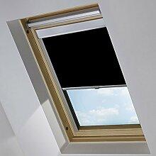 MCTECH Dachfenster rollo Sonnenschutz Verdunkelung Thermorollo Jalousien Rollos für Velux Dachfenster (102, schwarz)