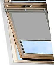 MCTECH Dachfenster rollo Sonnenschutz Verdunkelung Thermorollo Jalousien Rollos (U08/808, Grau)
