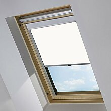 MCTECH Dachfenster rollo Sonnenschutz Verdunkelung Thermorollo Jalousien Rollos (C04, Weiß)