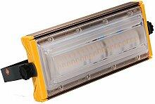 MCTECH Neu Typ Ultraslim 50W LED Kaltweiß Flutlicht Strahler Kombination Fluter Außenleuchte Scheinwerfer Aussenstrahler Gelb (50W Kaltweiß)