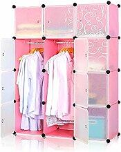 MCTECH® Regal Garderobe Kleiderschrank Schrank