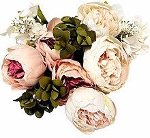Mcupper Künstliche Blumen Vintage Kunstseide