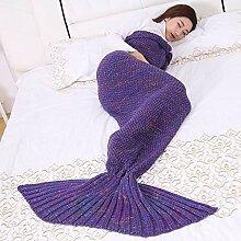 MDBHR*SBUSISB Gestrickte Decke Wolldecke Mermaid
