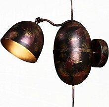 MDBLYJWandlampe Retro-nostalgische Eisen Wandlampe