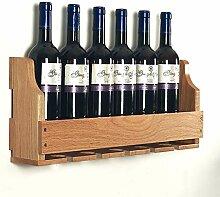 MDBYMX Weinflaschenhalter Holz Flaschenregal