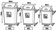 MDD Mülleimer im Freien Mülleimer Deckel