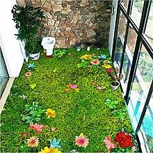 Mddjj Pastoralen Blumen 3D Bodenbelag Wandbild