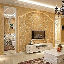 MDDW-American pastoral solide AB Vlies Tapete Hintergrund passende Schlafzimmer Wohnzimmer Wände , Gold