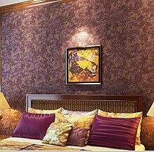 MDDW-Amerikanisches reinem Zellstoff Tapete Retrotapeten knacken schlicht Tapete Zimmer großes Schlafzimmer Wohnzimmer , retro pure paper (dark purple)